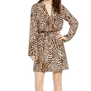 Leopard Print Long Sleeve Dress. Nordstrom-NWT - M